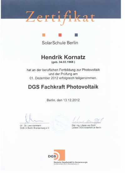 Fachkraft Photovoltaik